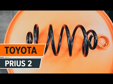 How to change a Front Springs TOYOTA PRIUS 2 TUTORIAL | AUTODOC
