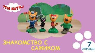 Три кота - Знакомство с Сажиком | Выпуск №7 | Развивающее видео для детей
