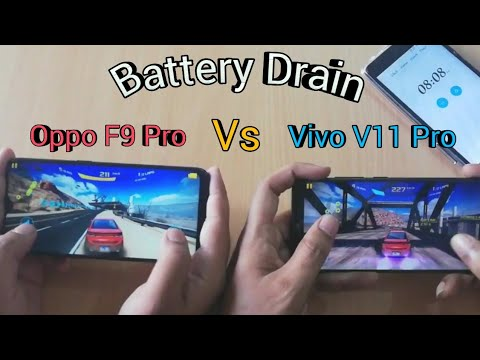 Vivo V11 Pro Vs Oppo F9 Pro Battery Draining Test