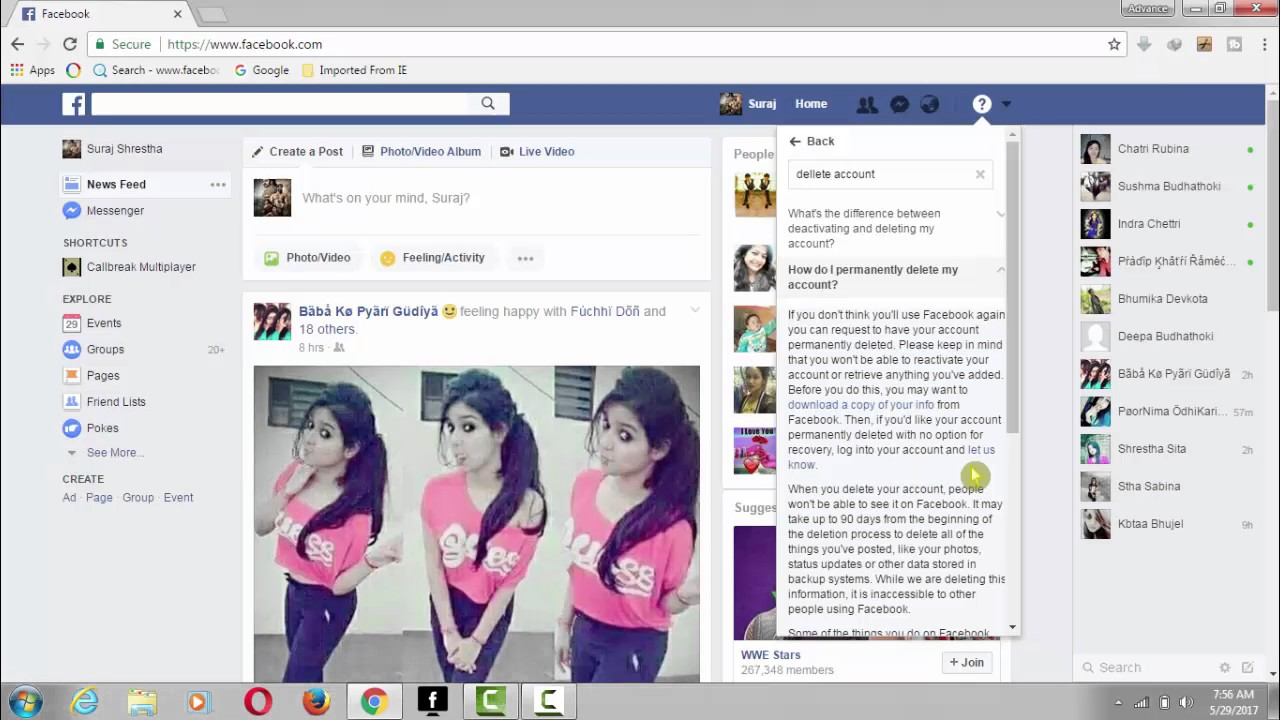 How to delete facebook account in nepali youtube how to delete facebook account in nepali ccuart Image collections