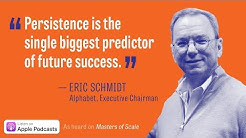 "Google/Alphabet's Eric Schmidt in ""Innovation = Managed Chaos"" - Ep. 6 of ""Masters of Scale"" podcast"
