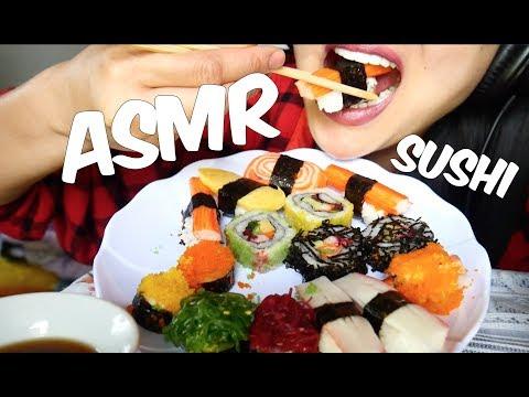 ASMR SUSHI (Thai Sushi) EATING SOUND *No Talking* | SAS-ASMR