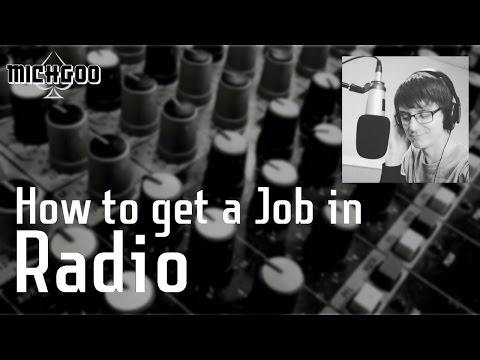 How to get a Job in Radio - Hints and Tips