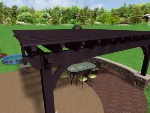 sayl concept video western timber frame full pergola no louvered roof system 042913
