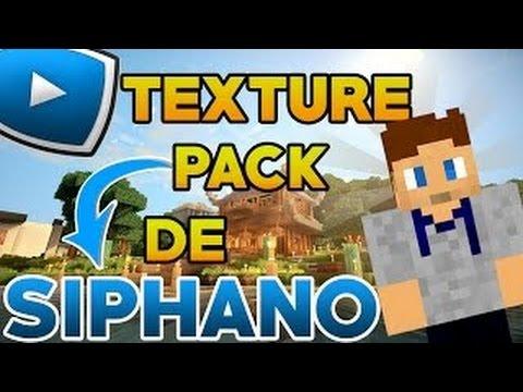 Le Texture Pack De Siphano Minecraft Youtube