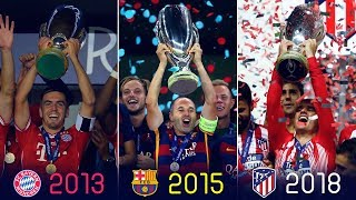 Uefa Super Cup Winners II 1972 - 2018 II