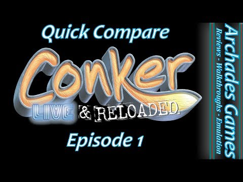 Conker Live and Reloaded Xbox vs Xbox One
