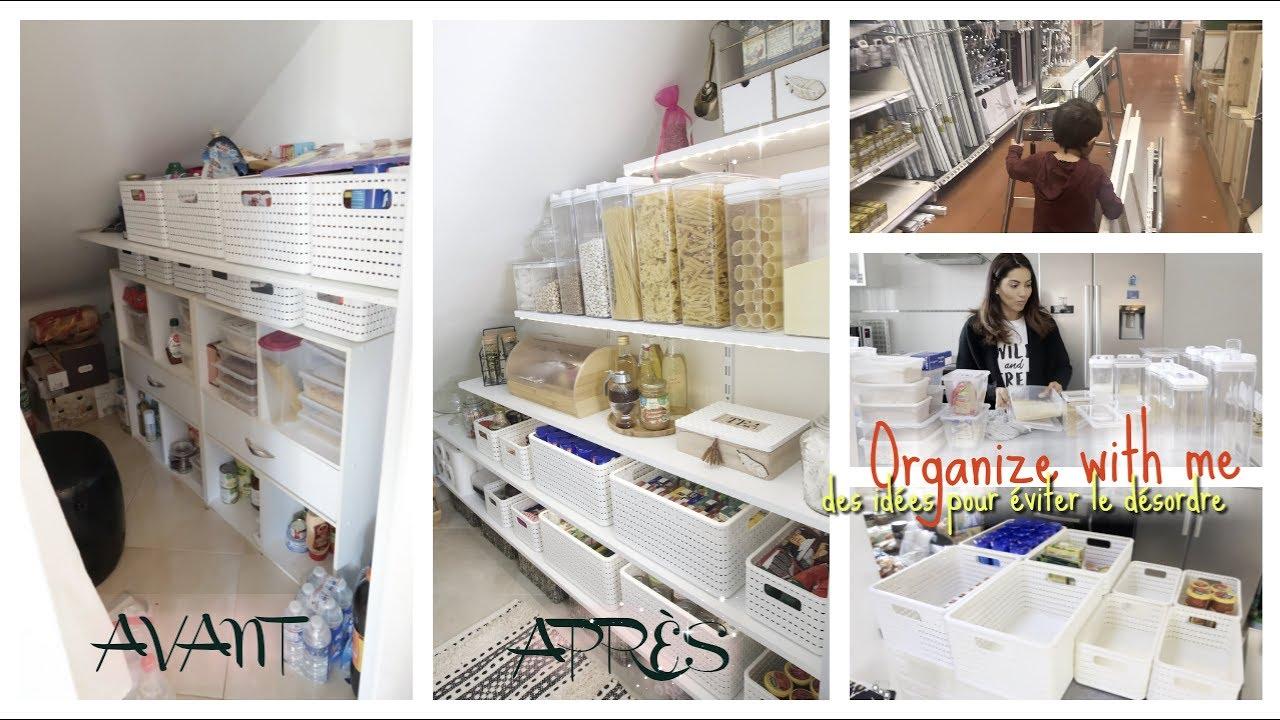 Rangement Pour Garde Manger organize with me | des idées & conseils pour Éviter le désordre -- je  transforme le garde-manger