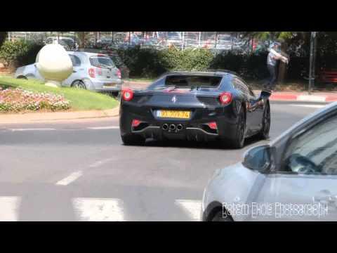 Black Ferrari 458 Spider in Israel 2013