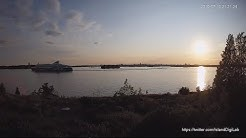 Helsinki Vasikkasaari Seaside Live Stream of Suomenlinna and Lonna Island and City Skyline