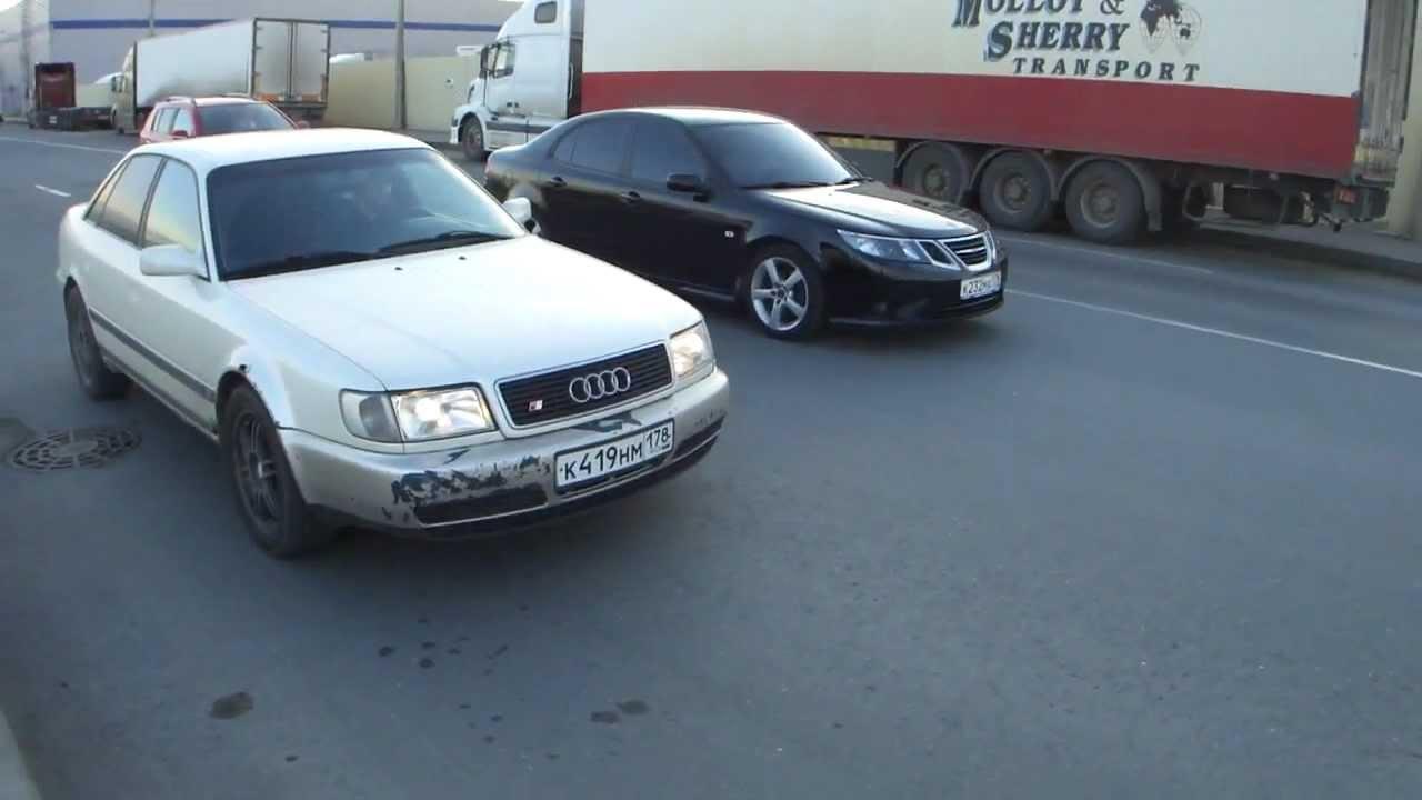 Saab 9-3 Vector 2.0t 210hp AT vs Audi S4 2.2t 230hp + Saab 9-3 aerо