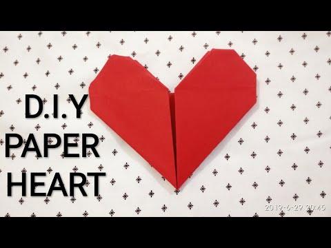 D.I.Y PAPER HEART❤️