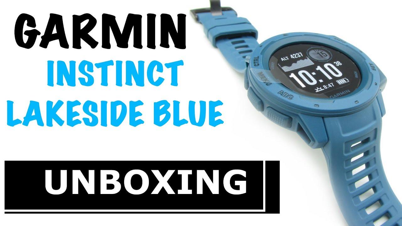 Garmin Instinct Lakeside Blue Unboxing HD (010-02064-04)