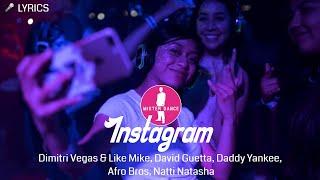 Dimitri Vegas & Like Mike, David Guetta, Daddy Yankee, Afro Bros, Natti Natasha - Instagram (Lyrics)