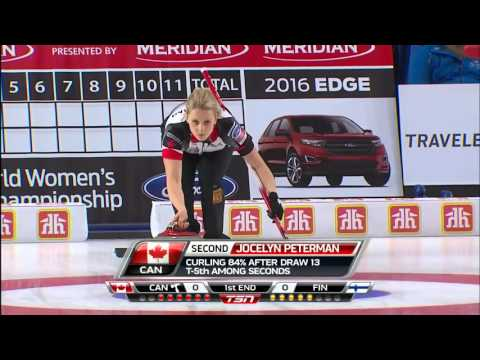 Carey (CAN) vs. Kauste (FIN) - 2016 Ford World Women's Curling Championship