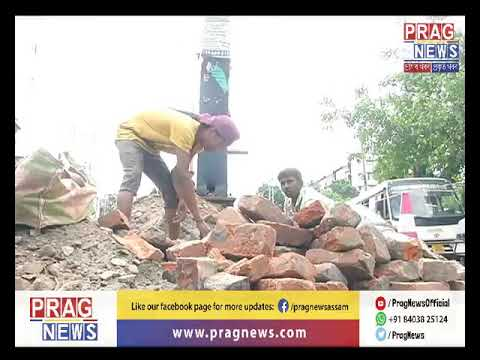 Damaged traffic point in Guwahati l State authorities unperturbed