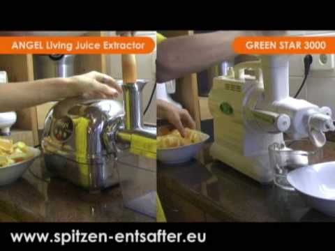 Vergleichsvideo: Angel Juicer X Green Star Juicer