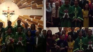 CHUC MUNG Tân Linh Mục Đaminh Nguyễn Việt BìnhTại GX St. Cecilia, Cộng Đoàn Tustin