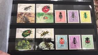 Коллекция марок. Фауна (насекомые)