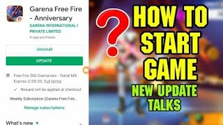 Game Is Not Open  New Upcoming Update 2019 New Map New Character  Garena Free Fire