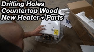 Custom Countertop Wood // New Tankless Ventless Water Heater + Stepup Bits