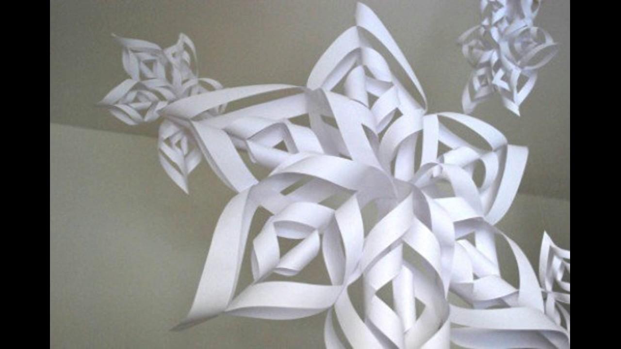 Eccezionale Come fare un fiocco di neve di carta - YouTube JN75