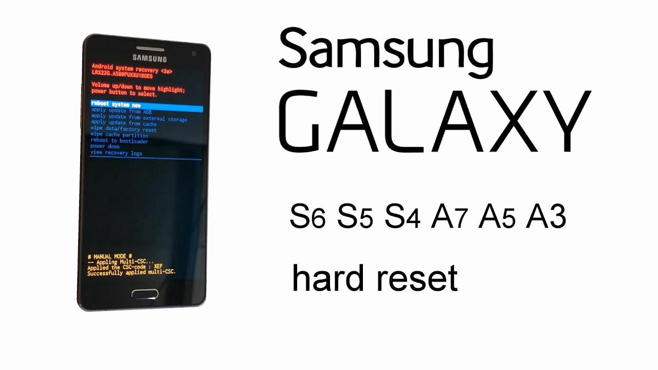 How to Hard Reset Samsung Galaxy A5 - iFixit Repair Guide