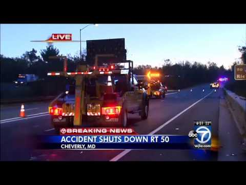 Car accident in Cheverly, Md  injures 1, shuts down part of Rt  50
