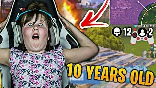 This 10 Year Old Girl is Better Than 80% of All Fortnite Players! (Fortnite Girl Gamer)