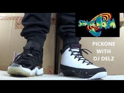 Air Jordan 9 VS 11 Sneaker #Pickone Space jam Battle Edition #MONSTARSBACK