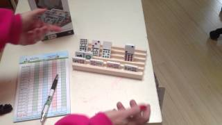 Cardinal Solid Wood Domino Racks Convenient Smaller Size | Mexican Train Fun