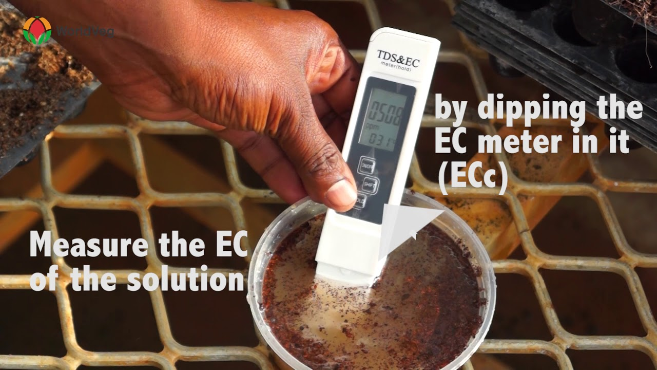 How to measure EC of Cocopeat