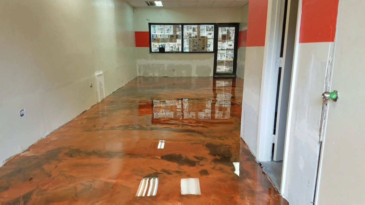 Attractive Metallic Epoxy Floor Installation Miami, FL