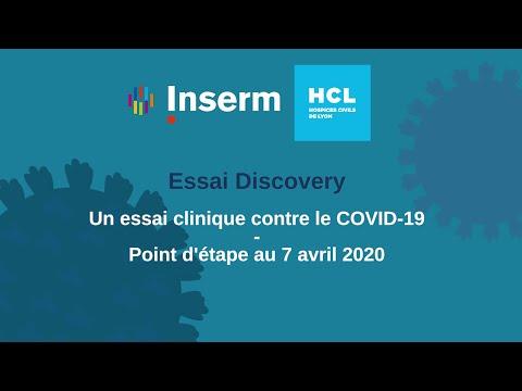 Covid-19 et essai clinique Discovery: point d'étape au 7 avril 2020