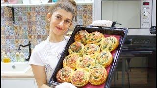 булочки со шпинатом и сыром  Рецепт