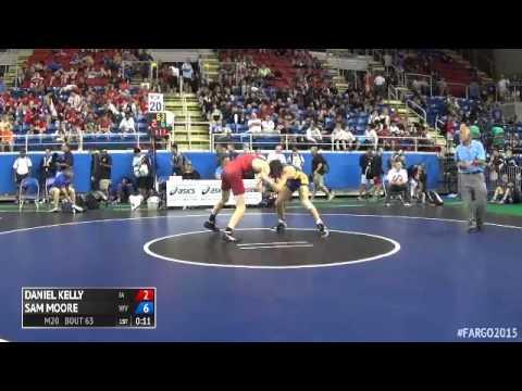 132 Champ. Round 1 - Sam Moore (West Virginia) vs. Daniel Kelly (Iowa)