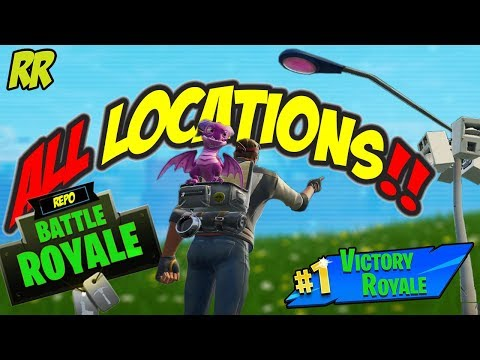 Where Are All The Street Lights Locations Of Spot Lights To Dance Under In Fortnite   Season 6