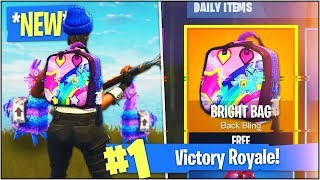 "COMMENT À UNLOCK 'NEW'S ""BRIGHT BAG"" dans Fortnite Battle Royale! (Secret Fortnite Back Bling)"