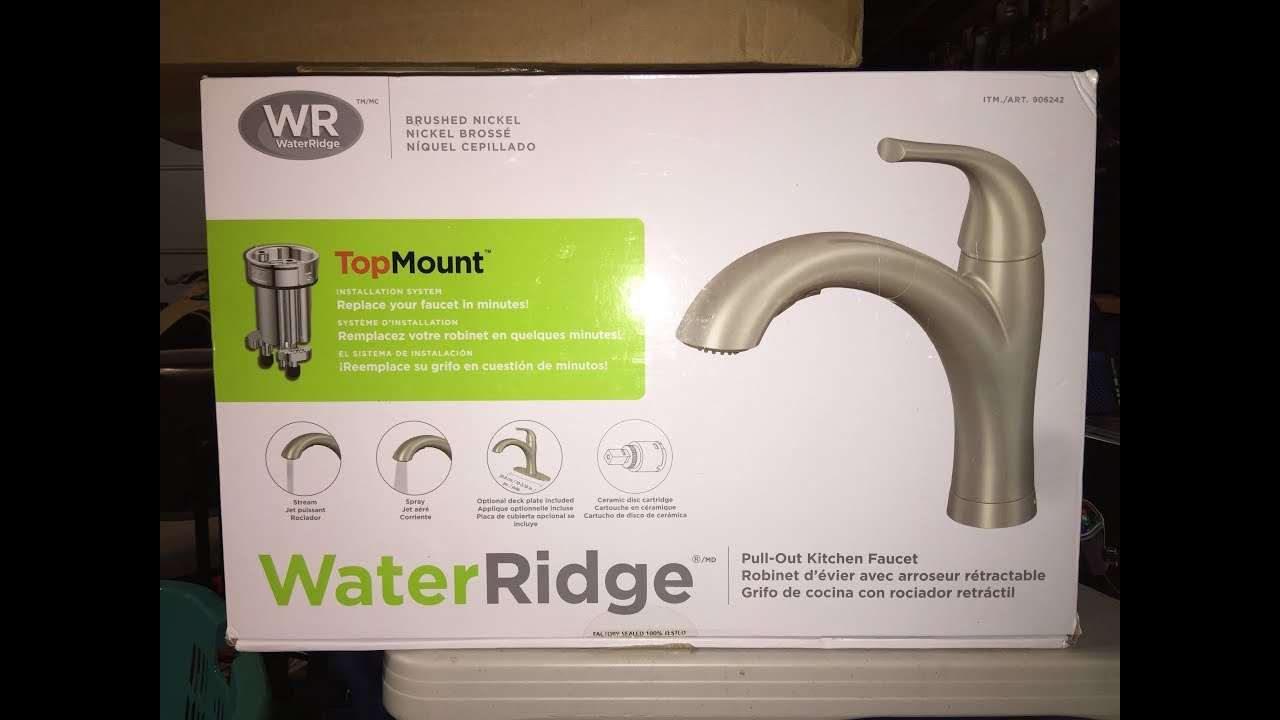 Water Ridge Kitchen Faucet Leak Solution Youtube