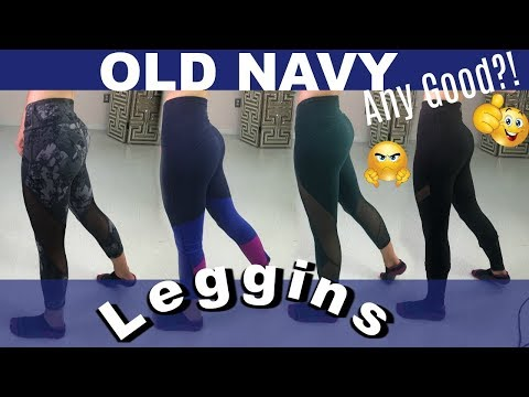 f981a30e22 OLD NAVY LEGGINGS TRY ON | ACTIVEWEAR REVIEW - YouTube