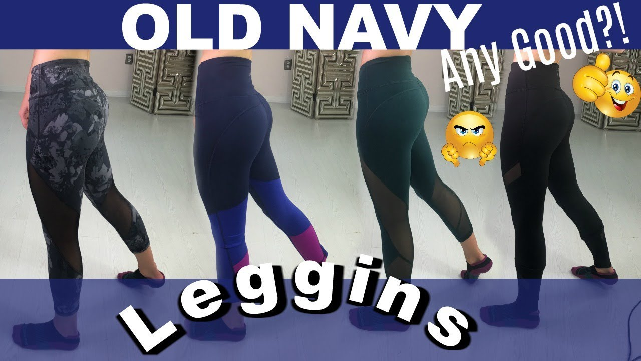 cd364454 OLD NAVY LEGGINGS TRY ON | ACTIVEWEAR REVIEW - YouTube