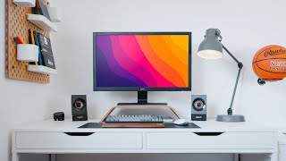 Modern Minimal Desk Setup Makeover (MESSY STUDENT)