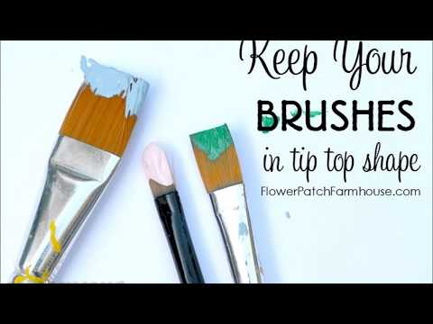 How to clean your paint brushes - easy Basic Paint Brush Cleaning & Care