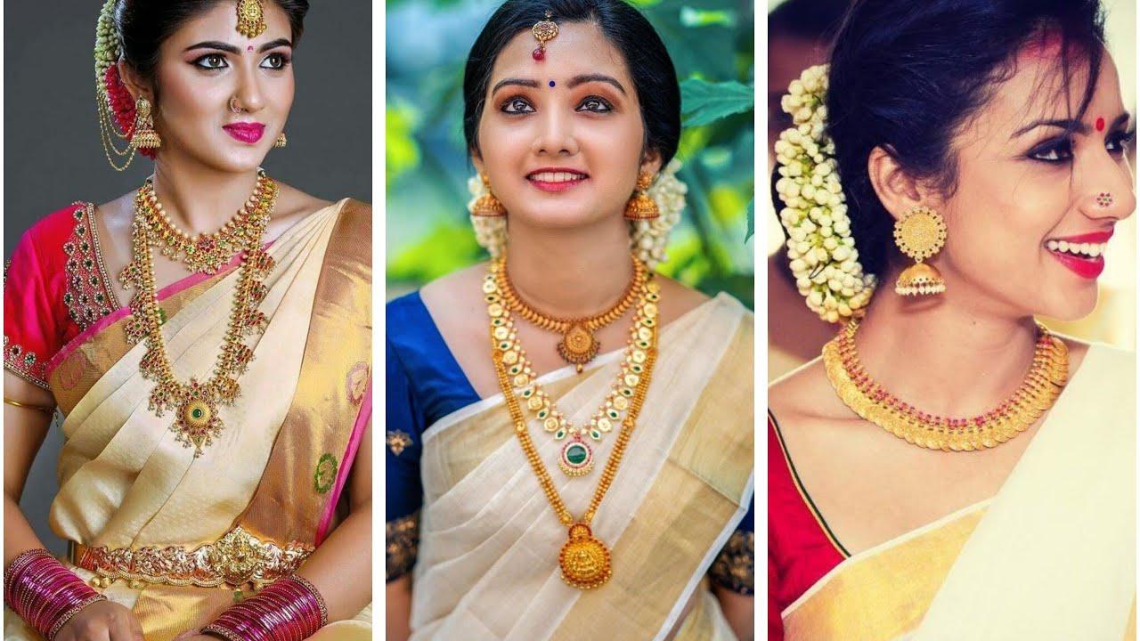 Kerala saree Trendy Jewellery
