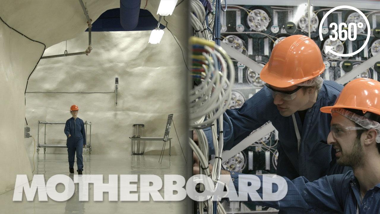 Exploring An Underground Dark Matter Lab in 360°