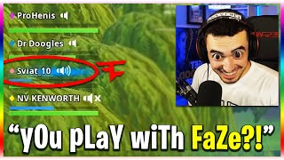 He Plays With FaZe?! (Fortnite Funny Moments)
