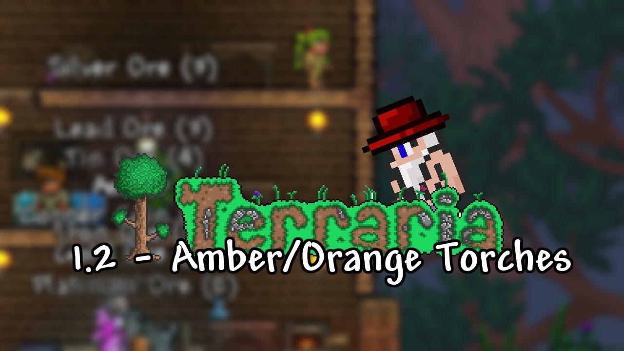 Terraria 1 2 - Amber/Orange Torches - ChippyGaming - Terraria WIKI