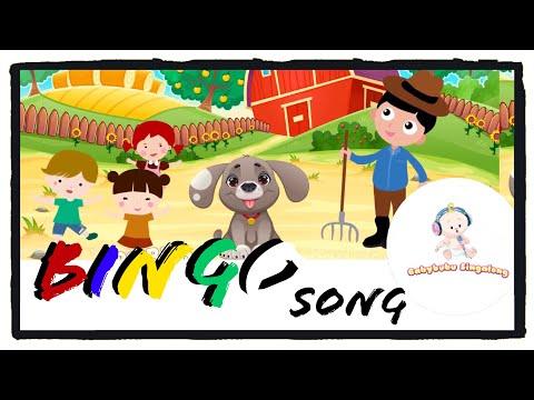 Bingo Song (Lyrics) 2018 - Sing Along Nursery Rhymes for Children, Kids and Toddlers