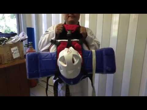 How to Store Chest Protector on The Sparring Bag