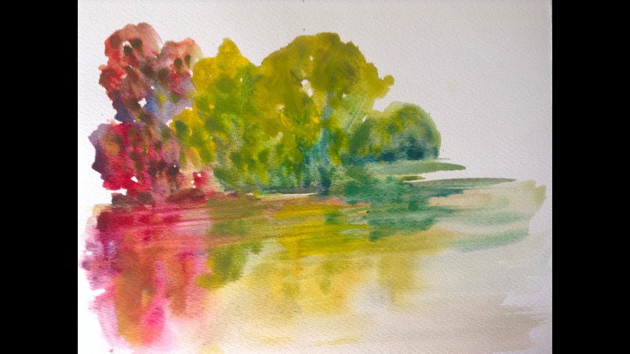 Easy watercolor paintings of trees for How to watercolor for beginners